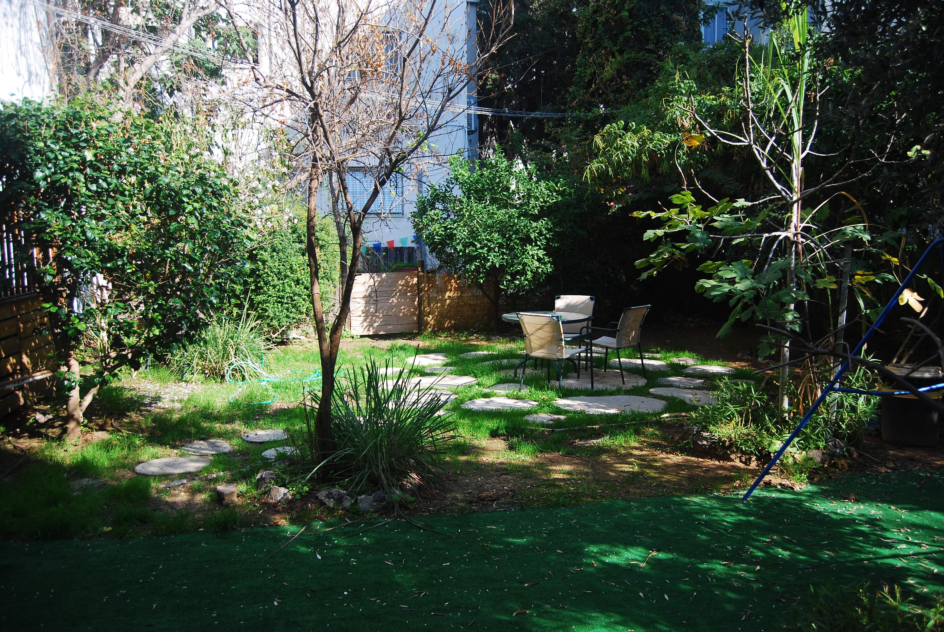 Charming Garden Apartment for Rent on Rothschild Boulevard