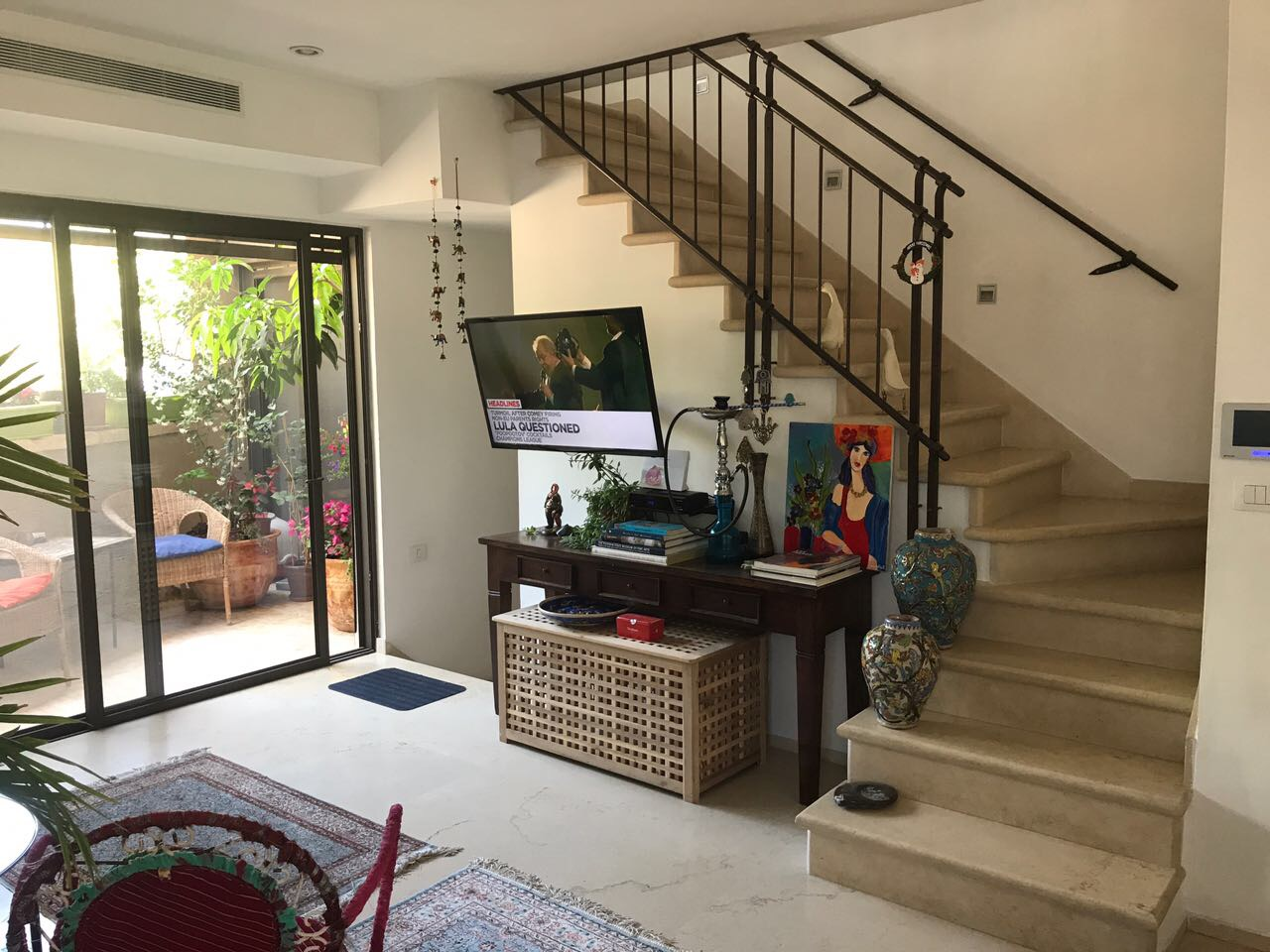 Tranquil & Green 3 Bedroom Apartment for Rent in Tel Aviv's Lovely Neve Tzedek Quarter