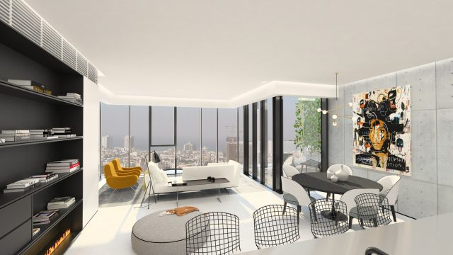 Spacious & Customizable Apartment for Sale in the Gymnasia Tower in Tel Aviv's Old North