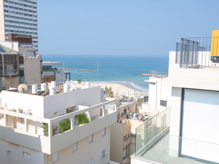3 Bedroom Penthouse with Seaview on Gordon Beach for Rent in Central Tel Aviv