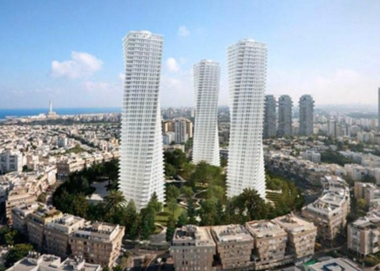 Kikar HaMedina Tower Complex in Tel Aviv